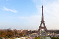 View eiffel tower trocadero paris Royalty Free Stock Photo