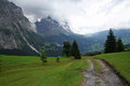 View on the Eiger and Grindelwald valley Royalty Free Stock Images