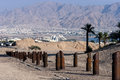 View on eilat aqaba and the red sea are famous resort cities in middle east Stock Photography