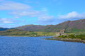 A view of eilean donan castle at dornie scotland Royalty Free Stock Photo