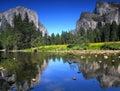 View of El Capitan in Yosemite National Park Royalty Free Stock Photo