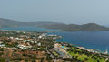 View on Elounda coastline and resorts Royalty Free Stock Photos