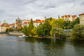 View on embankment in prague czech republic Stock Photography