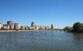 View of embankment of river esil the the Stock Photography