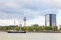 View of the embankment in rotterdam holland Stock Images