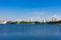 View of embankment yekaterinburg city russia Stock Photos
