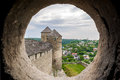View from the embrasure of a tower Royalty Free Stock Photo