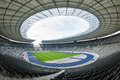 View of an empty berlin s olympia stadium berlin germany april built for the summer olympics Royalty Free Stock Image