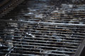 View of empty hot barbecue grill grate Royalty Free Stock Photo