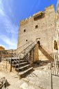 A view of the entrance of the medieval castle of kolossi it is situated in the south of cyprus in limassol the castle dates back Royalty Free Stock Photo