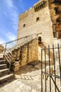 A view of the entrance of the medieval castle of kolossi it is situated in the south of cyprus in limassol the castle dates back Stock Image