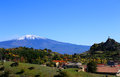 View on etna photo of volcano Stock Image