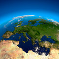 View on Europe from a height Royalty Free Stock Photos