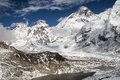 View of the everest from kala patthar nepal circa october circa october in Stock Photos