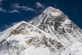 View of the everest from kala patthar nepal circa october circa october in Stock Photo