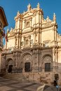 View at the facade of Cathedral San Patrick in Lorca, Spain