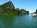 View of famous halong bay in vietnam Royalty Free Stock Photo