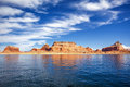 View on famous lake powell page usa Royalty Free Stock Image