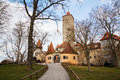 View famous medieval town rothenburg ob der tauber germany old town gate Stock Image