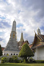 View of famous religion temple wat phra prakaew grand palace in Bangkok Thailand Royalty Free Stock Photo