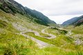 View of famous transfagarasan highway in romania the second highest paved road Stock Photos
