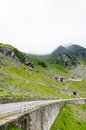 View of famous transfagarasan highway in romania the second highest paved road Royalty Free Stock Photos