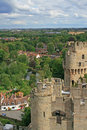 View from famous Warwick castle Stock Image