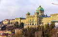 View of the Federal Palace of Switzerland (Bundeshaus) Royalty Free Stock Photo