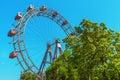 View through the Ferris Wheel in Vienna. Austria. Royalty Free Stock Photo