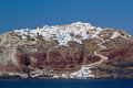 View on fira in santorini greece Stock Photography