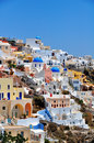 View of fira town santorin santorini greece Royalty Free Stock Image