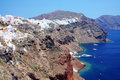 View of fira town santorini Royalty Free Stock Photo