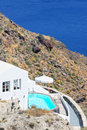 View of Fira town - Santorini Greece Royalty Free Stock Photos