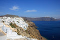 View of Fira town - Santorini Greece Stock Photos