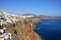 View of Fira town - Santorini Greece Stock Photo