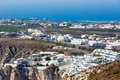 View of Fira town - Santorini island,Crete,Greece. Stock Images