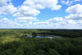 View from the fire tower at Itasca State Park Royalty Free Stock Photo