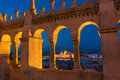 View of the Fisherman's Bastion Budapest at night Royalty Free Stock Photo
