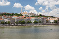 View of the Fisherman`s Bastion and the west bank of the River D Royalty Free Stock Photo