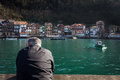 View of the fishing village of San Juan, Basque Country, Spain Royalty Free Stock Photo