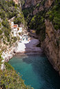 View of fjord in italy on amalfi coast Royalty Free Stock Photography