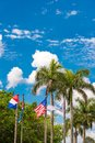 View of the flags, Vinales, Pinar del Rio, Cuba. Vertical. Royalty Free Stock Photo