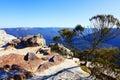 View from Flat Rock Kings Tableland Wentworth Falls Blue Mountai