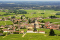 View of Fleurie village and vineyards, Beaujolais, France Royalty Free Stock Photo