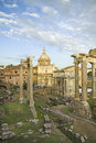 View of the Fori Imperiali in Rome. Royalty Free Stock Photo