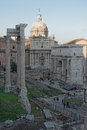 View of foro romano rome cityscape the italy Stock Photography