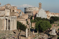 View of foro romano rome cityscape the italy Royalty Free Stock Photo