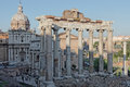 View of foro romano rome cityscape the italy Stock Image