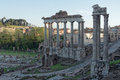 View of foro romano rome cityscape the italy Stock Photo