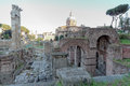 View of foro romano rome cityscape the italy Stock Images